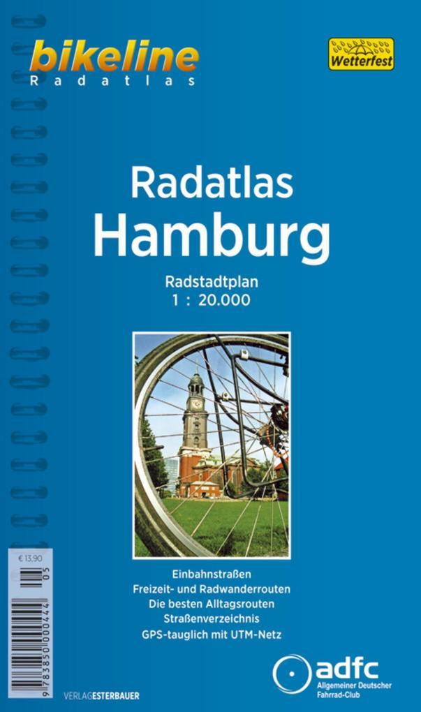 Bikeline Radatlas Hamburg 1 : 20 000 als Buch
