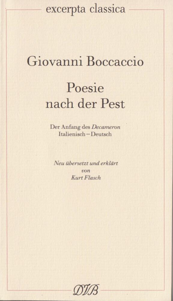 Poesie nach der Pest als Buch