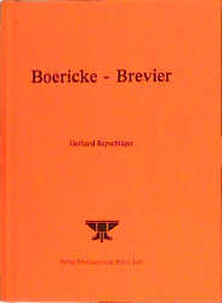 Boericke-Brevier als Buch