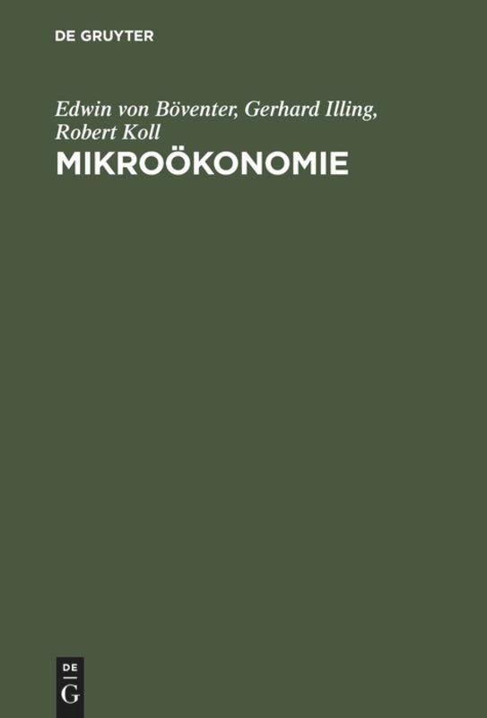 Mikroökonomie als Buch von Edwin von Böventer, ...