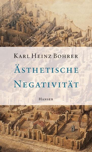 Ästhetische Negativität als Buch (gebunden)