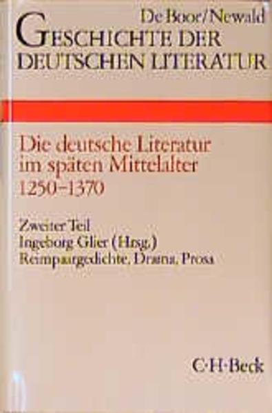 Die deutsche Literatur im späten Mittelalter. Tl.2 als Buch