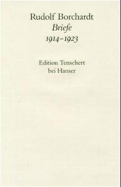 Briefe 1914 - 1923 als Buch