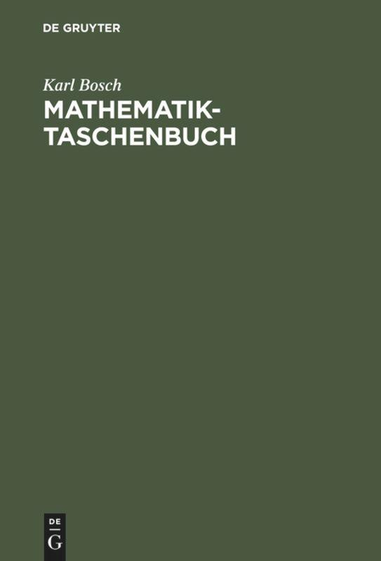 Mathematik-Taschenbuch als Buch