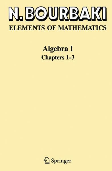 Algebra I als Buch