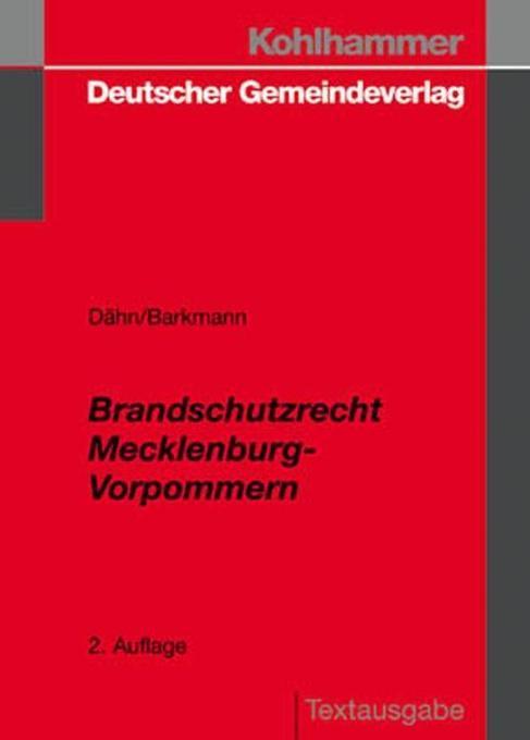 Brandschutzrecht Mecklenburg-Vorpommern als Buch
