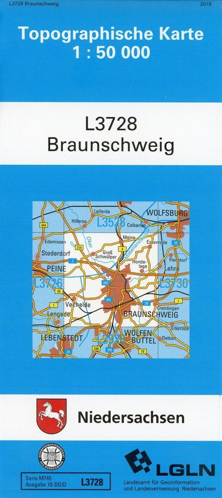 Braunschweig 1 : 50 000. (TK 3728/N) als Buch