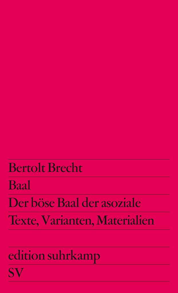 Baal / Der böse Baal der asoziale als Taschenbuch