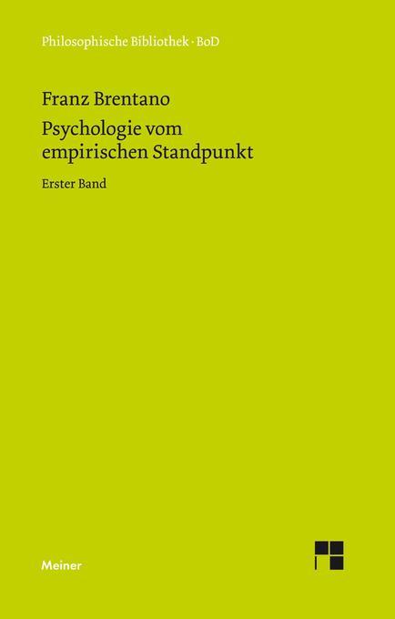 Psychologie vom empirischen Standpunkt / Psychologie vom empirischen Standpunkt als Buch