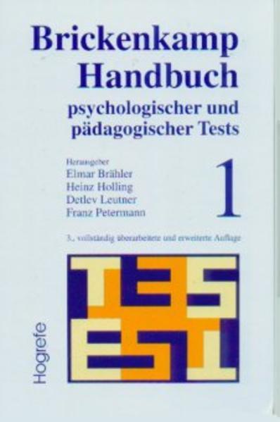 Handbuch psychologischer und pädagogischer Tests 1 als Buch