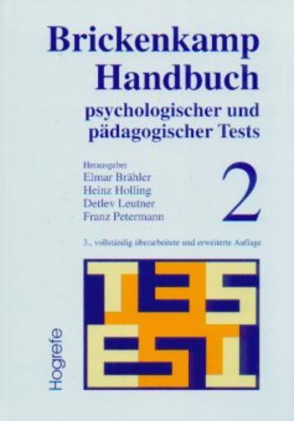 Handbuch psychologischer und pädagogischer Tests 2 als Buch