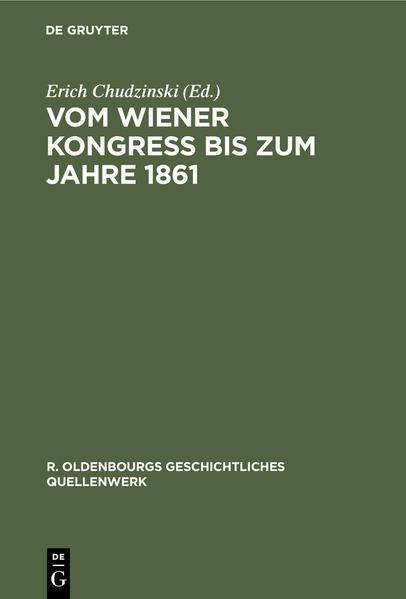 Vom Wiener Kongreß bis zum Jahre 1861 als Buch (gebunden)