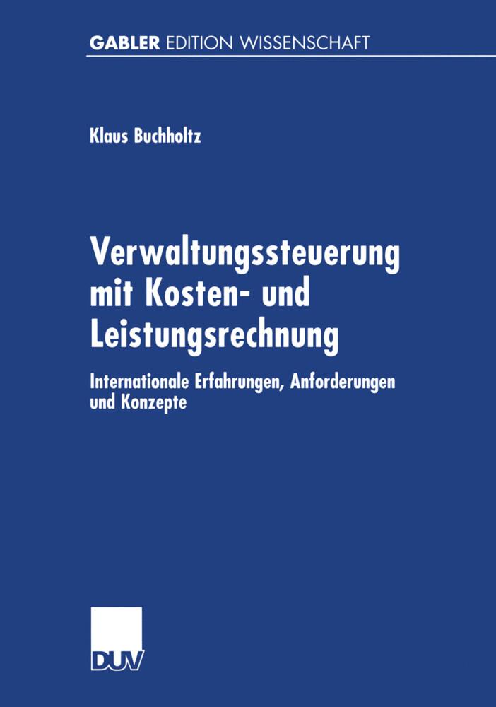 Verwaltungssteuerung mit Kosten- und Leistungsrechnung als Buch