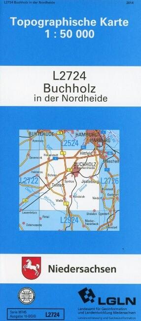 Buchholz in der Nordheide 1 : 50 000. (TK 2724/N) als Buch