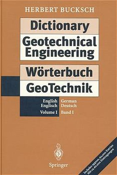 Dictionary Geotechnical Engineering / Wörterbuch GeoTechnik als Buch