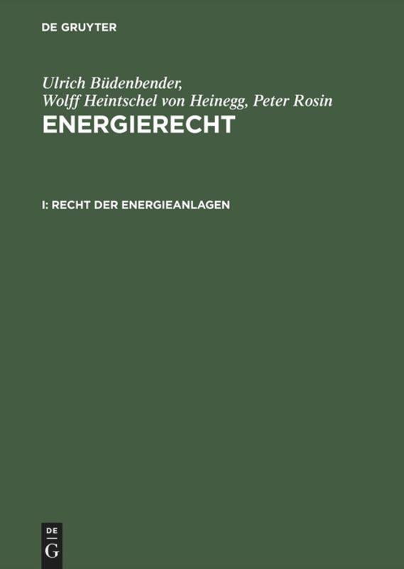 Recht der Energieanlagen als Buch