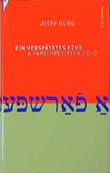 Ein verspätetes Echo /A farschpetikter echo als Buch