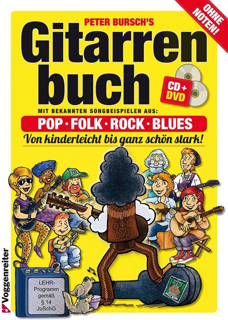 Gitarrenbuch 1. Mit DVD und CD als Buch