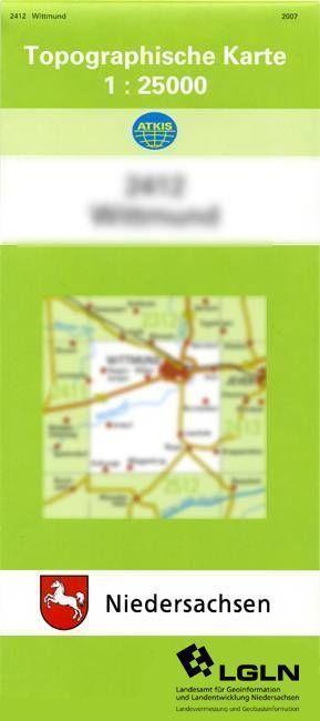 Butjadingen West 1 : 25 000 als Buch