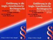 Einführung in die Anglo-Amerikanische Rechtssprache (Introduction to Anglo-American Law & Language)