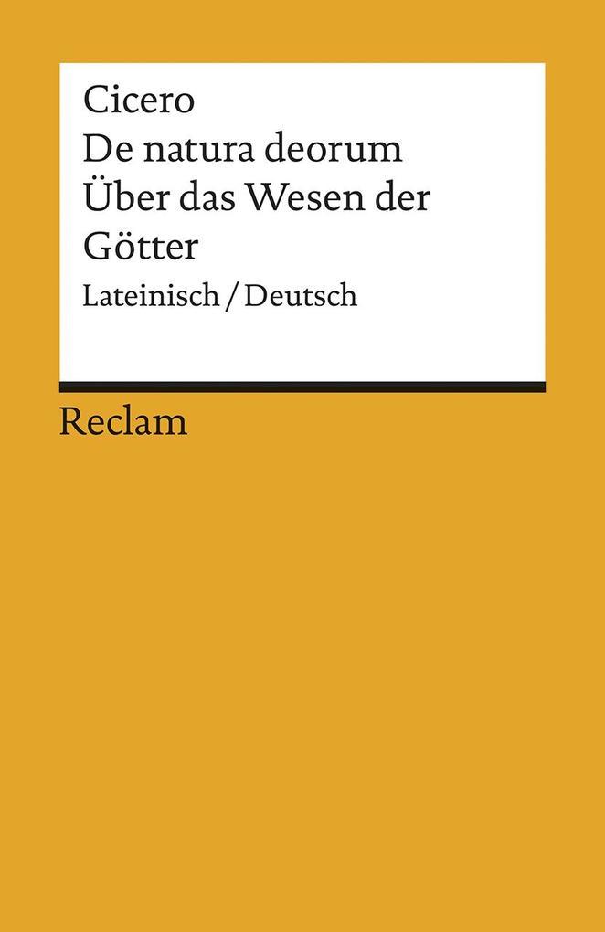 De natura deorum / Über das Wesen der Götter als Taschenbuch