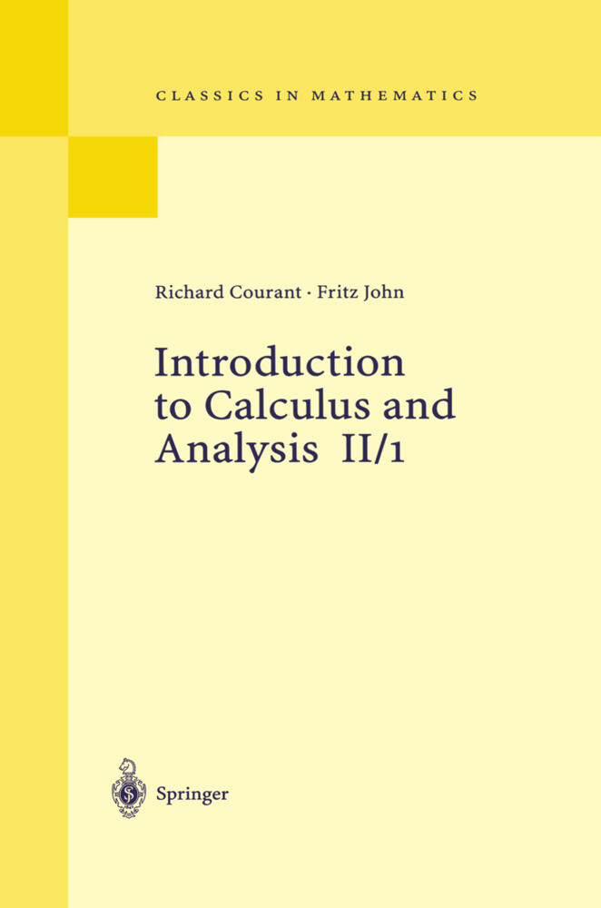 Introduction to Calculus and Analysis II/1 als Buch