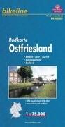 Bikeline Radkarte Deutschland Ostfriesland 1 : 75 000