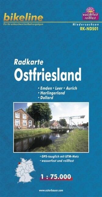 Bikeline Radkarte Deutschland Ostfriesland 1 : 75 000 als Buch