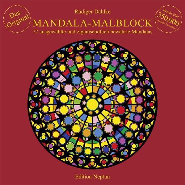 Mandala-Malblock als Buch