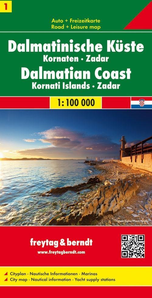 FuB Dalmatinische Küste 01. Kornaten - Zadar 1 : 100 000 als Buch