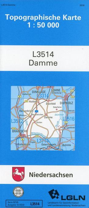 Damme 1 : 50 000. (TK 3514) als Buch