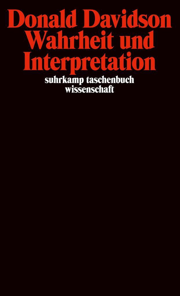 Wahrheit und Interpretation als Taschenbuch