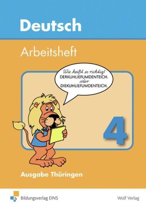 Deutsch 4. Arbeitsheft. Thüringen als Buch