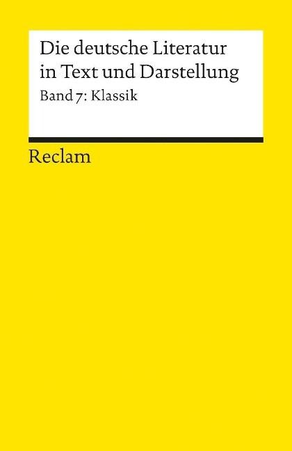 Die deutsche Literatur 7 / Klassik als Taschenbuch