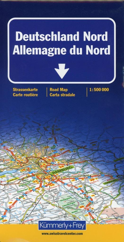KuF Deutschland Straßenkarte Nord 1 : 500 000 als Buch
