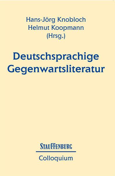 Deutschsprachige Gegenwartsliteratur als Buch