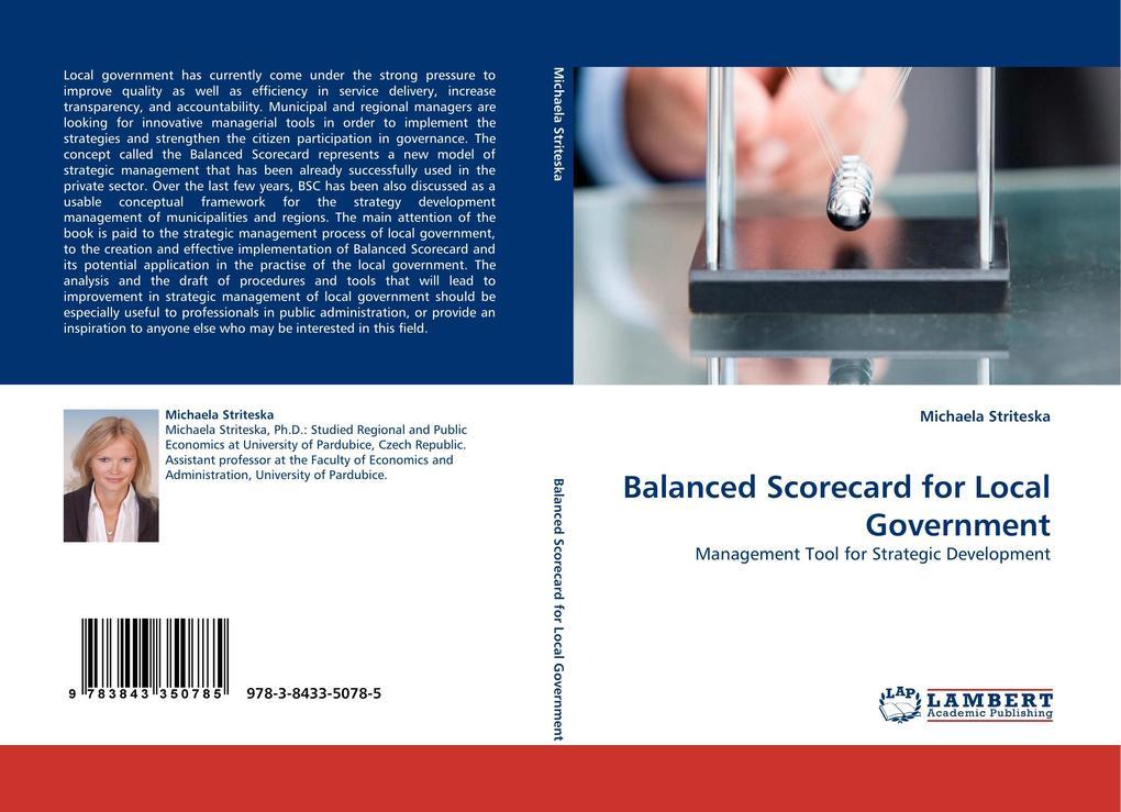 Balanced Scorecard for Local Government als Buch von Michaela Striteska - Michaela Striteska
