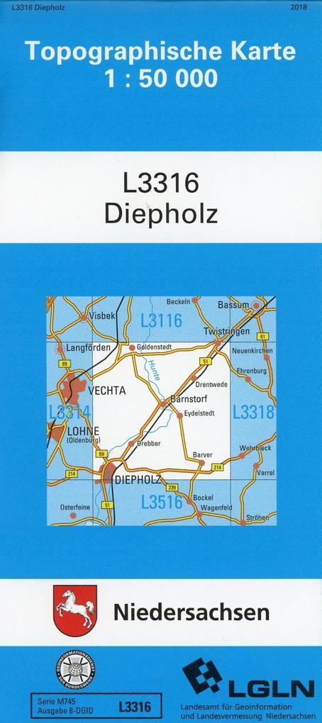 Diepholz 1 : 50 000. (TK 3316/N) als Buch