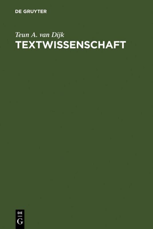 Textwissenschaft als Buch