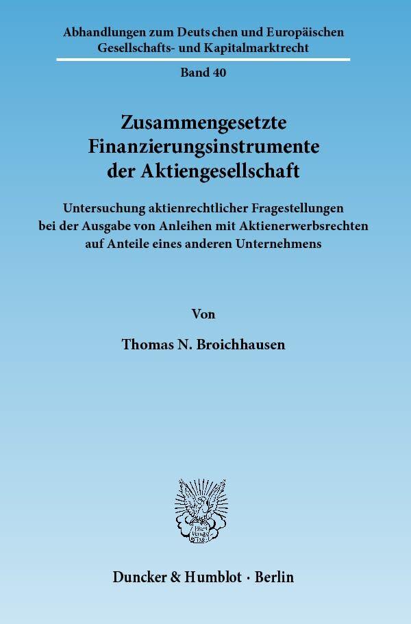 Zusammengesetzte Finanzierungsinstrumente der A...