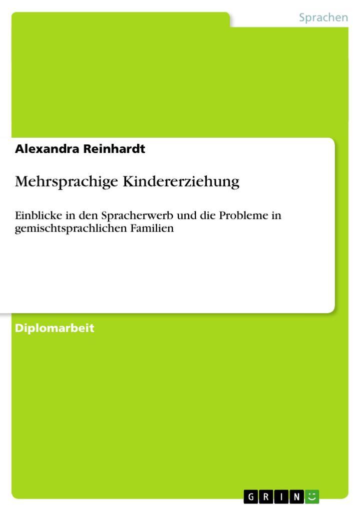 Mehrsprachige Kindererziehung als Taschenbuch v...