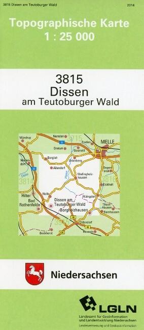Dissen am Teutoburger Wald 1 : 25 000. (TK 3815/N) als Buch