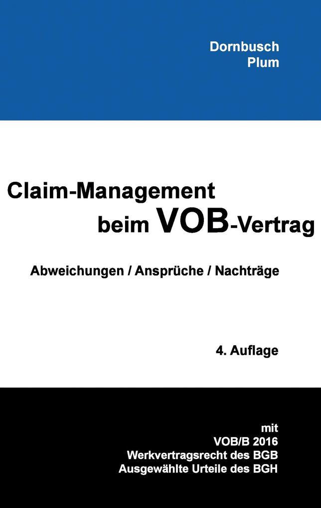 Claim-Management beim VOB-Vertrag als Buch