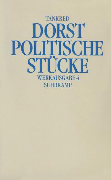 Werkausgabe 4. Politische Stücke als Buch (gebunden)
