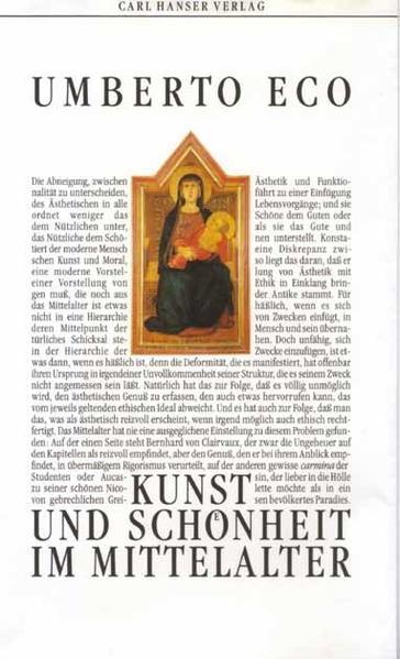 Kunst und Schönheit im Mittelalter als Buch