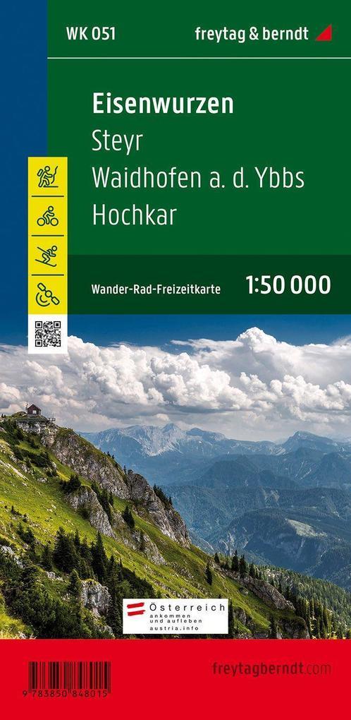 Eisenwurzen. Steyr. Waidhofen an der Ybbs Hochkar 1 : 50 000. WK 051 als Buch