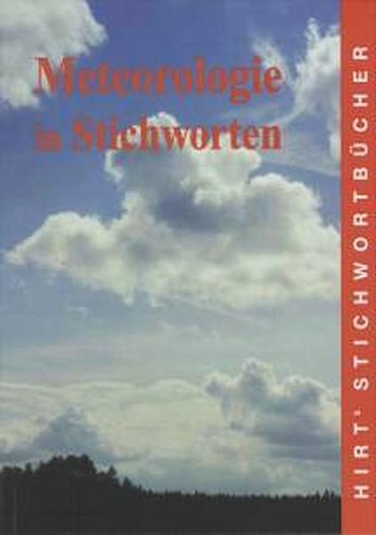 Meteorologie in Stichworten als Buch