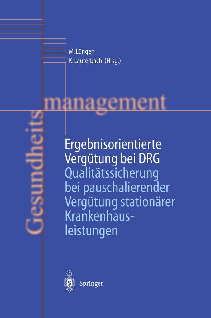 Ergebnisorientierte Vergütung bei DRG als Buch
