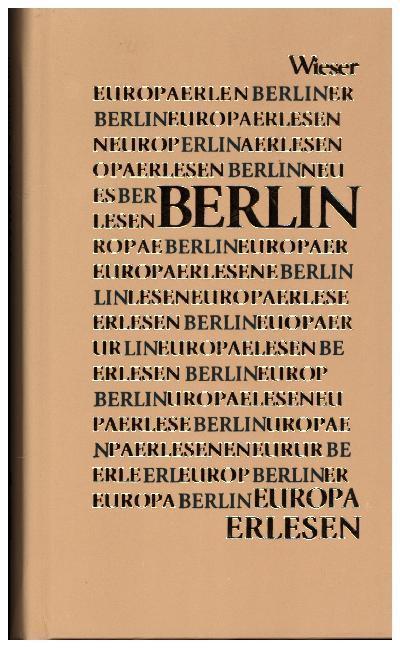 Europa Erlesen. Berlin als Buch (gebunden)