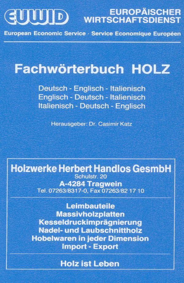 Fachwörterbuch HOLZ. als Buch (gebunden)